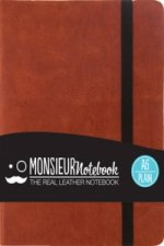 Monsieur Notebook - Real Leather A6 Tan Plain