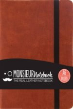 Monsieur Notebook - Real Leather A6 Tan Ruled