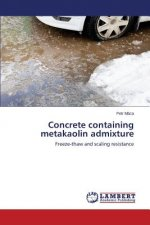 Concrete containing metakaolin admixture