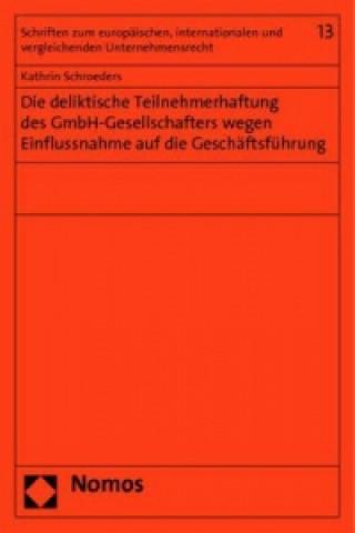 Die deliktische Teilnehmerhaftung des GmbH-Gesellschafters wegen Einflussnahme auf die Geschäftsführung