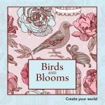 Colouring in Book Mini Birds and Blooms