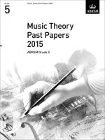 MUSIC THEORY PAST PAPERS GRADE 5 2015