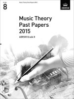 MUSIC THEORY PAST PAPERS GRADE 8 2015