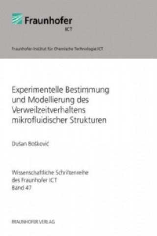 Experimentelle Bestimmung und Modellierung des Verweilzeitverhaltens mikrofluidischer Strukturen.