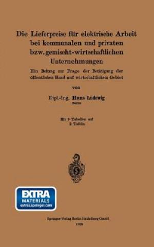Die Lieferpreise Fur Elektrische Arbeit Bei Kommunalen Und Privaten Bzw. Gemischt-Wirtschaftlichen Unternehmungen