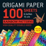 Origami Paper 100 Sheets Rainbow Patterns 6