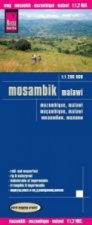 World Mapping Project Reise Know-How Landkarte Mosambik, Malawi (1:1.200.000)