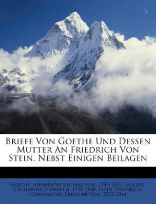 Briefe Von Goethe Und Dessen Mutter An Friedrich Von Stein. Nebst Einigen Beilagen
