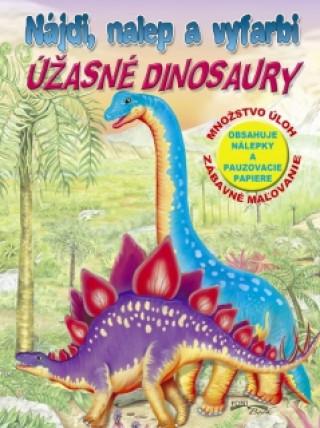Nájdi, nalep a vyfarbi Úžasné dinosaury