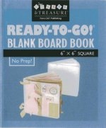 Ready-To-Go Blank Board Book White 6 X 6 Square