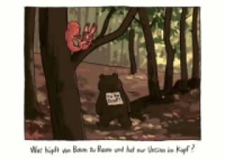 Was liegt am Strand und redet undeutlich-Postkartenset Streichhörnchen