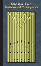 Bowling 2 in 1 Taktikboard und Trainingsbuch