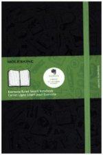 Moleskine Evernote Smart Notizbuch, Liniert, Large Size, schwarz