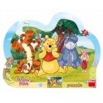Schovávaná s Medvídkem Pú - puzzle 25 dílků