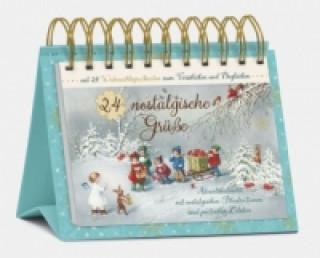 24 nostalgische Grüße, Tisch-Adventskalender