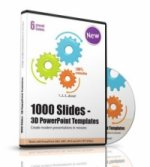 1000 Slides - 3D PowerPoint Templates, 1 CD-ROM