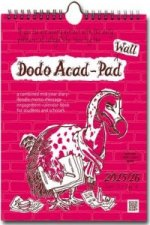 Dodo Wall Acad-Pad Calendar 2015 - 2016 Week to View Academic Mid Year Calendar