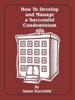 How to Develop and Manage a Successful Condominium