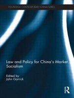 Law and Policy for China's Market Socialism
