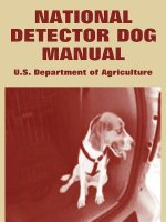 National Detector Dog Manual