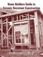 Home Builders Guide to Seismic Resistant Construction