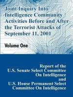 Joint Inquiry Into Intelligence Community Activities Before and After the Terrorist Attacks of September 11, 2001 (Volume One)