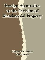 Foreign Approaches to the Division of Matrimonial Property