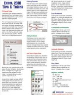 Excel 2010 Laminated Tip Card