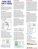 Excel 2013 Laminated Tip Card