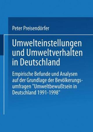 Umwelteinstellungen Und Umweltverhalten in Deutschland
