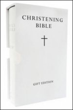HOLY BIBLE: King James Version (KJV) White Compact Christening Edition