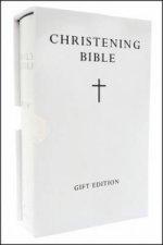 HOLY BIBLE: King James Version (KJV) White Compact Christening Edition