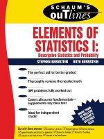 Schaum's Outline of Elements of Statistics I: Descriptive Statistics and Probability