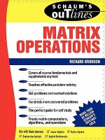 Schaum's Outline of Matrix Operations