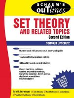 Schaum's Outline of Theory and Problems of Set Theory and Re