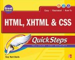 HTML, XHTML, and CSS QuickSteps