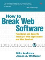 How to Break Web Software