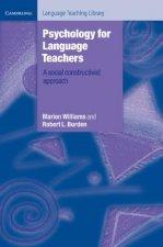 Psychology for Language Teachers