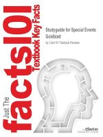 Studyguide for Special Events by Goldblatt, ISBN 97804713968