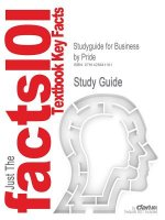 Outlines & Highlights for Business by Pride, Hughes, & Kapoo