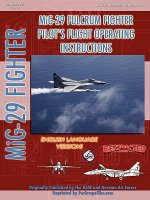 Mikoyan Mig-29 Fulcrum Pilot's Flight Operating Manual (in E