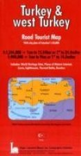 Turkey and West Turkey Road Tourist Map Including Town Plan
