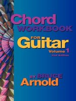 Chord Workbook for Guitar Volume One