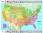 U.S.A Political - Michelin rolled & tubed wall map Paper