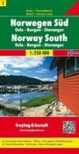 Norway South - Oslo - Bergen - Stavanger Sheet 1 Road Map 1:250 000
