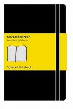 Moleskine Pocket Squared Hardcover Notebook Black
