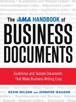 AMA Handbook of Business Documents: Guidelines and Sample Documents That Make Business Writing Easy