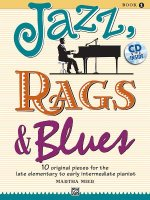 Jazz, Rags & Blues, for piano, w. Audio-CD. Vol.1