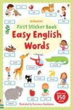 Easy English Words Sticker Book