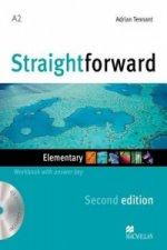 Straightforward 2nd Edition Elementary Level Workbook with key & CD